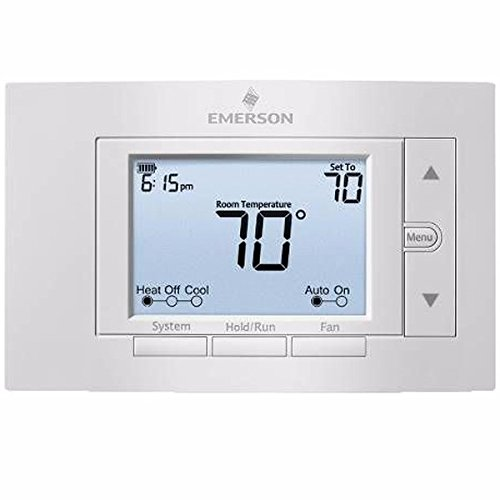 WHITE RODGERS 1F85U-42NP EMERSON 80 SERIES UNIVERSAL NON-PROGRAMMABLE THERMOSTAT, 5 IN. DISPLAY, 2 HEAT / 2 COOL (1 PER CASE)