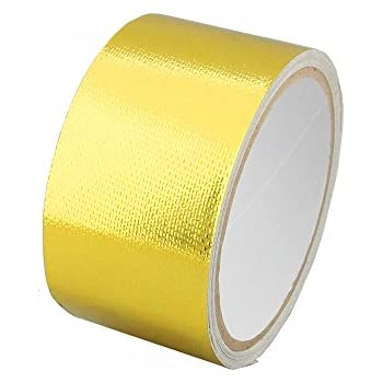 4-Pack Ucreative Relfect-A-Gold Tape Adhesive Backed Heat Barrier Reflect Heat 2 x 16 each Roll