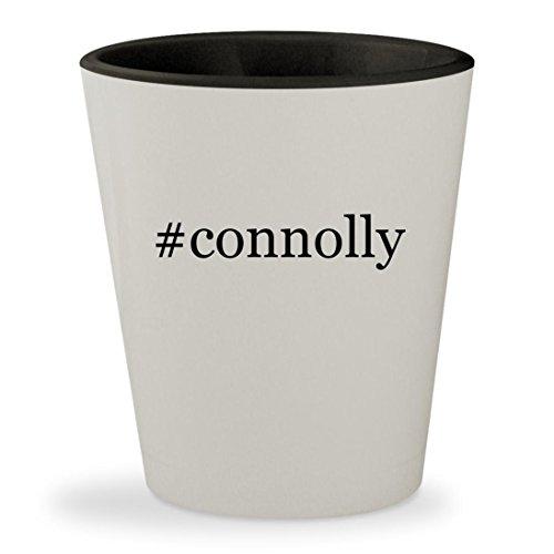 #connolly - Hashtag White Outer & Black Inner Ceramic 1.5oz Shot - With Jennifer Glasses Lawrence