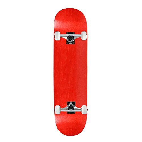 (Moose Complete Skateboard STAINED RED 7.5