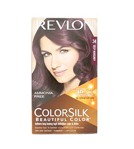 Revlon Colorsilk Haircolor 34, Deep Burgundy - 1 Ea, Pack of 3