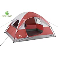 ALPHA CAMP 3 Person Tent for Camping Lightweight...