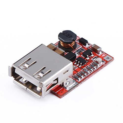 DROK Ultra Small Mini DC Power Module DC 3V to 5V 1A USB Battery Converter Step Up Module Charge for MP3/MP4/Phone Samsung Galaxy S3 iPad iPhone 4S 5 6/6 Plus ()