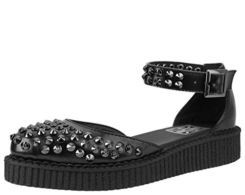 Women's T Black Black Sandal K U Pointed Shoes Creeper Studded wqwfxAZrt