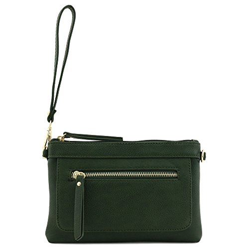 Multi Bag Wristlet Clutch Crossbody functional Olive and RwZrPRq