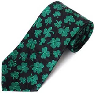 St. Patrick's Day Green Clover Fun Ties