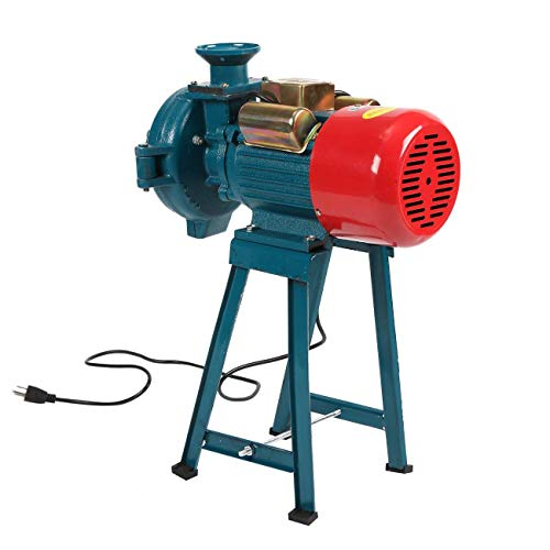 WICHEM Electric Grinder Machine Professional Grain Mill Commercial Grinder Cast Iron Heavy Duty Grinding Miller For Flour Corn Wheat Feed Coffee Animal Food