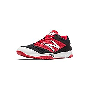 New Balance Turf 4040v3 Synthetic Mesh Mens Cushioning Baseball Shoe 10.5 Wide Black-Red