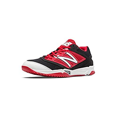 New Balance Turf 4040v3 Synthetic Mesh Mens Cushioning Baseball Shoe 10.5 Wide Black-Red