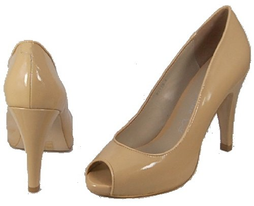toe patent heel Punto By in open and Gorgeous nude shoe colour high Bene court leather aPfdqwC
