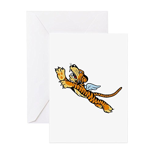 CafePress The Flying Tigers Greeting Card, Note Card, Birthday Card, Blank Inside Matte ()