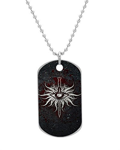 Dragon Age Inquisition Custom Dog Tag with Neck Chain, Aluminum Oval Dog Tag Necklace Design by Vingoo