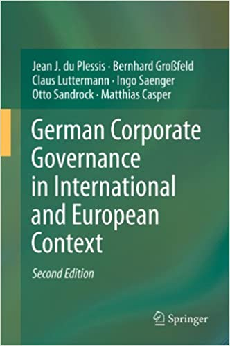 German Corporate Governance in International and European