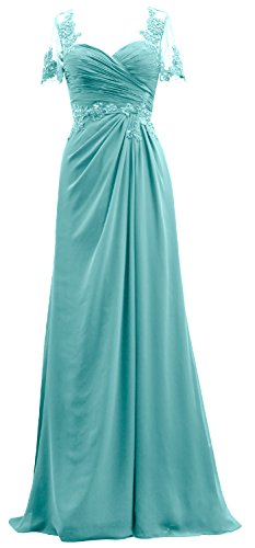 Sleeves The Of Bride Evening Women Lace Macloth Gown Mother Maxi Short Turquoise Dress Zz4qvvE