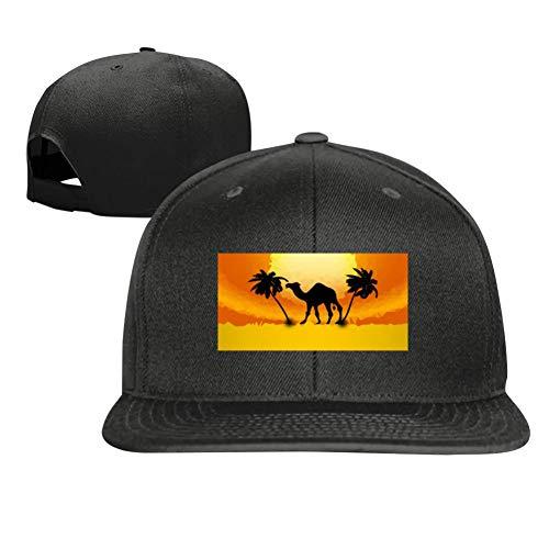 Camels in The Golden Desert Fashion Men and Women General Truck Drivers Hip-Hop Baseball Caps Black