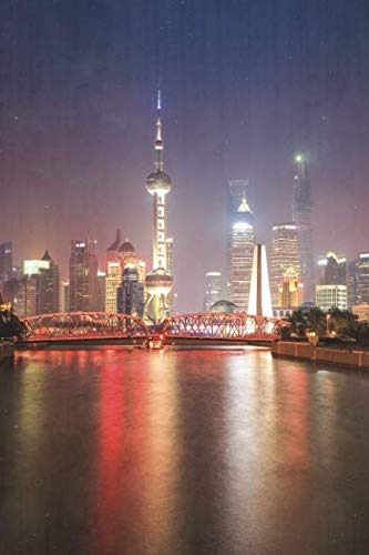 (Notebear: Beautiful Shanghai At Night Journal (Travel Notebook & Diary with Alternate Blank & Lined Pages))
