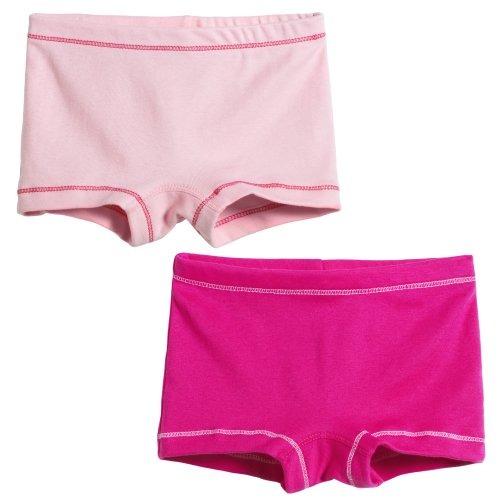 City Threads Girls' 2-Pack BoyShorts Perfect for Sensitive Skin SPD Sensory Friendly Clothing For School Play and Under Dresses Bike and Dance, Pink/Hot Pink, 5 by City Threads
