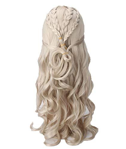 COSJP Thrones Daenerys Targaryen Cosplay Wig Khaleesi