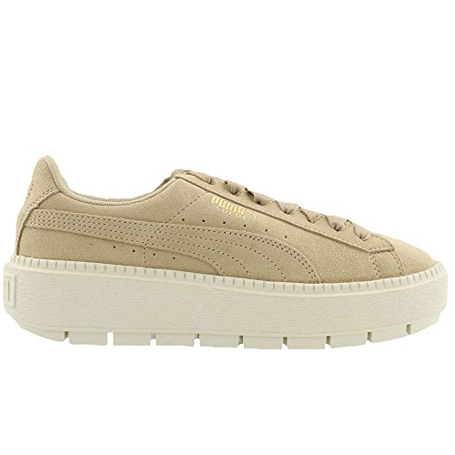discount online PUMA Women's Suede Platform Trace Sneakers Safari / Marshmallow looking for for sale new arrival cheap online X5C6S