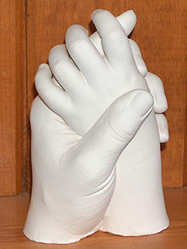 Luna Bean LARGE Keepsake Hands Casting Kit | DIY Plaster Statue Molding Kit  for COUPLES, Adult & Child, Wedding, Anniversary Gift