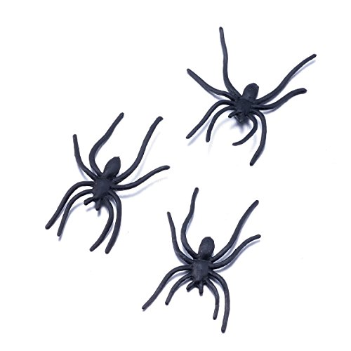 plastic-spiders-halloween-fake-spiders-for-gag-gifts-party-favors-prank-kit-100-pcs-by-funlavie