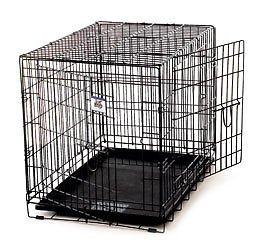 LITTLE GIANT Pet Lodge Medium Double Door Wire Pet Crate by LITTLE GIANT