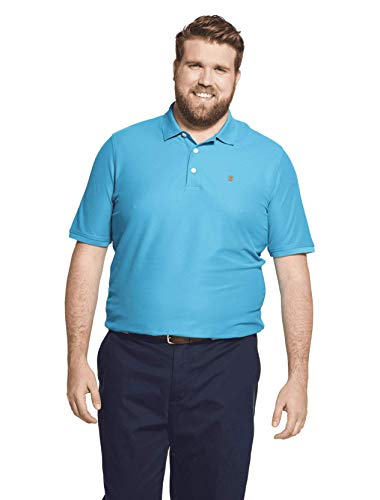 IZOD Men's Big and Tall Advantage Performance Short Sleeve Solid Polo Shirt, Caneel Bay, 2X-Large Tall ()