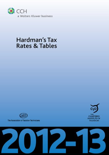Amazon Com Hardmans Tax Rates And Tables 2012 13 1st