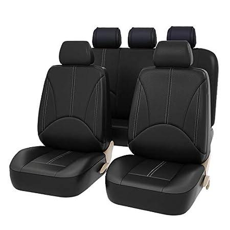 SODIAL Cuscino Seat Cover in Pelle Sedile 9 Pz Auto Universale