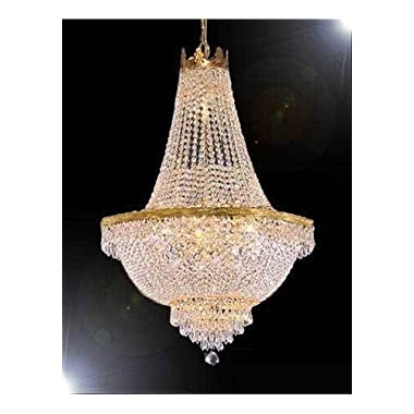 """French Empire Crystal Chandelier Lighting - Great for the Dining Room, Foyer, Living Room! H50"""" X W30"""""""