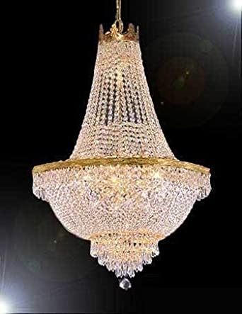 French Empire Crystal Chandelier Lighting – Great for the Dining Room, Foyer, Living Room H50 X W30