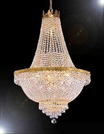 "French Empire Crystal Chandelier Lighting - Great for the Dining Room, Foyer, Living Room! H50"" X W30"""