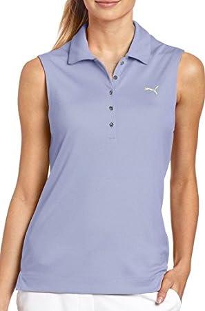 Puma Solid - Polo de Golf para Mujer, sin Mangas, Color Morado ...