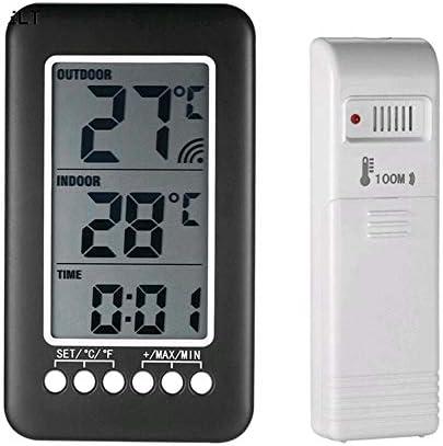 ワイヤレス屋内と屋外の温度計LCDデジタルディスプレイセンサー付き家庭用冷蔵庫氷蓄熱温度計