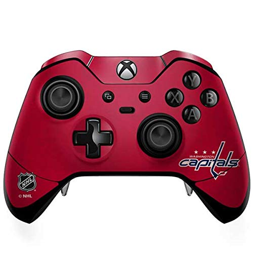 (Skinit Washington Capitals Distressed Xbox One Elite Controller Skin - Officially Licensed NHL Gaming Decal - Ultra Thin, Lightweight Vinyl Decal Protection)