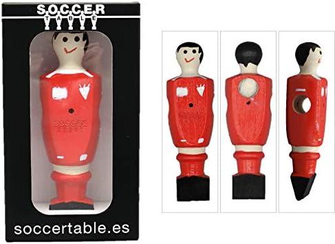 Soccer Table SL Individual Jugador de Futbolín Liverpool con imán, presentado en una Exclusiva Caja expositora, Color Rojo (art-092): Amazon.es: Juguetes y juegos