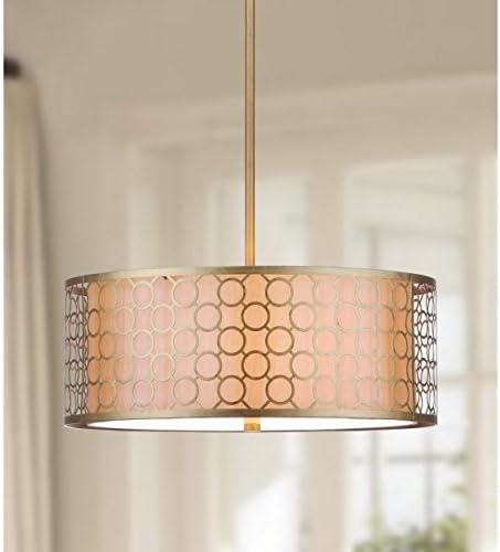 Safavieh Lighting Collection Giotta Antique Gold 45.25-inch Pendant Light