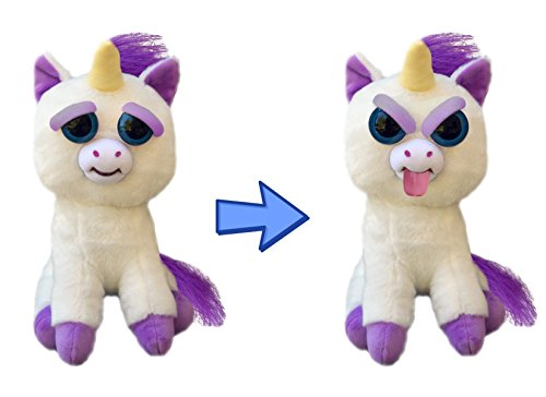 (Feisty Unicorn by Feisty Pets Expressions, William Mark – Glenda Glitterpoop, Silly - A Cute, Plush Stuffed Pet Animal That Sticks Her Tongue Out With a Squeeze - Perfect Toys)