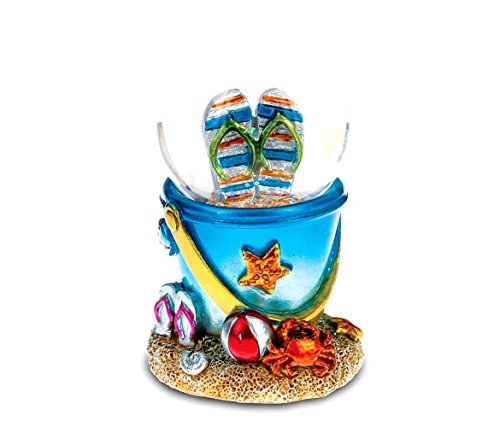 CoTa Global Resin Cool Summer Sandals Beach Bucket Snow Globe (45mm), 3.25