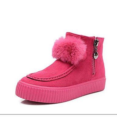 GLL&xuezi Damen Schuhe Nubukleder Winter Komfort Stiefel Stiefel Stiefel Mit Für Normal Schwarz Grau Fuchsia B075GSP1NL Sport- & Outdoorschuhe Globale Verkäufe ebf7c4