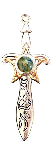 Briar Ashshaph Labradorite Pendant for Magickal Ability Talisman Amulet Charm