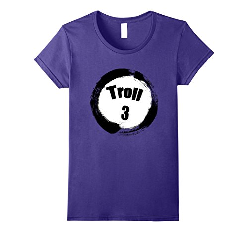 Group Of Three Halloween Costumes (Womens Troll 3 Halloween Group Costumes Trick or Treat T-shirt Large Purple)