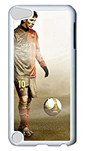Creative GOOD For iPod Touch 5, iPod Touch 5 Case, Hot Sale Fc Barcelona Lionel Messi Protective Hard PC Plastic Case Cover for Apple iPod Touch 5 5th Generation White