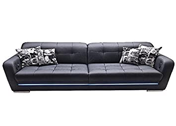 Big Sofa Mercury Schwarz Led Sound Anthrazit Schwarz Holz Stoff