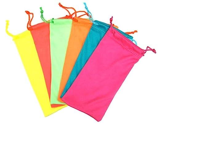 Amazon.com: 12 PCS color cordón anteojos bolsa blanda de ...