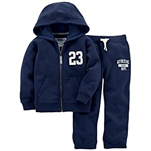 Carter's Boys' Big Fleece Hoody and Pant Set