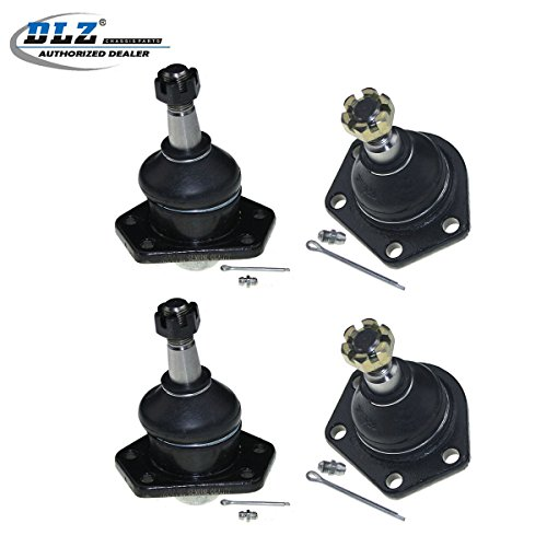 DLZ 4 Pcs Front Suspension Kit-Lower Upper Ball Joint Compatible with 1995-1996 Chevrolet Blazer 4WD 1984-1996 Chevrolet S10 4WD 1992-1996 GMC Jimmy 4WD 1984-1990 GMC S15 4WD 1991-1996 GMC Sonoma 4WD