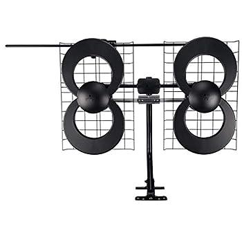 Image of TV Antennas Antennas Direct Clearstream 4V TV Antenna, 70+ Mile Range, UHF/Vhf, Multi-Directional, Indoor, Attic, Outdoor, Mast W/Pivoting Base/Hardware/Adjustable Clamp/Sealing Pads, 4K Ready, Black – C4-V-CJM