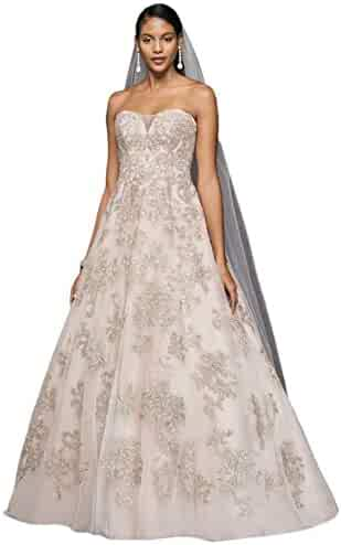 ae4e2643dab Sample  As-is Metallic Lace Applique A-Line Wedding Dress Style AI14010577