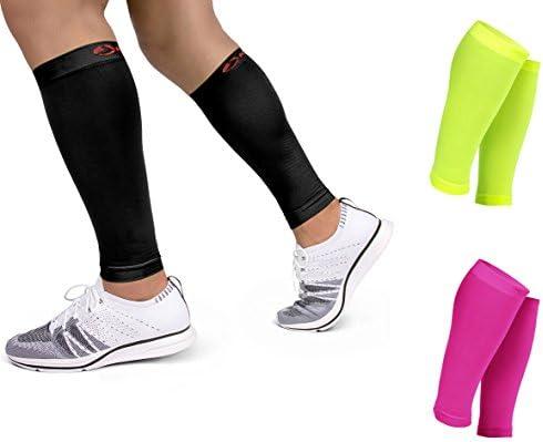 Kaizen 1 Paar Waden Kompressionsstrümpfe ohne Fuß Wadenbandage High Performance für Damen & Herren Unisex | Ideal für Sport, Erholung, Abhilfe bei Schienbeinkantensyndrom